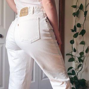 LEVI'S • orange tab mom jeans